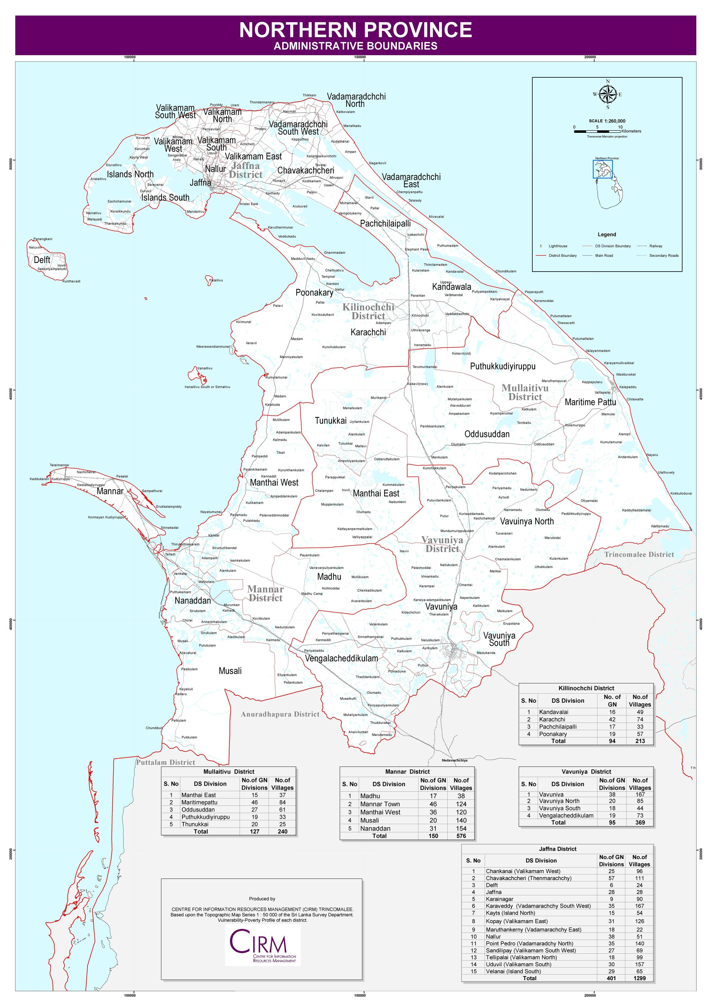 Maps Of Province  Districts And Ds Divisions  U2013 Northern Provincial Council  Sri Lanka